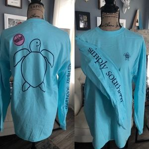 Simply Southern Turtle long Sleeve Shirt NWT